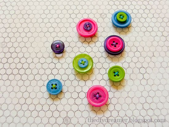 Super cute button magnets!