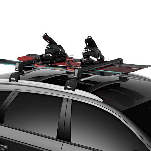Thule 7326b Snowpack L 6 Pair Ski 4 Snowboard Rack Rebox Item Rackwarehouse Com Snowboard Roof Rack Ski Rack Car Ski Rack