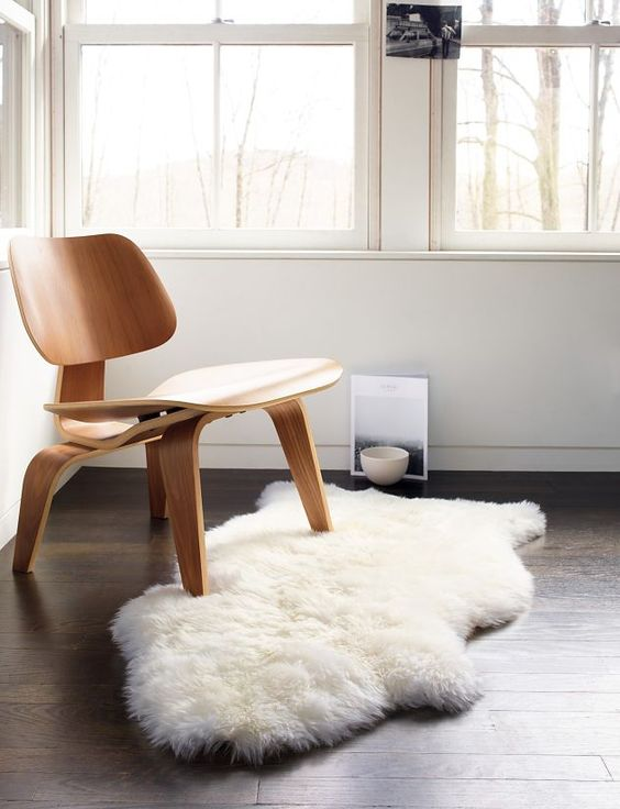 Eames® Molded Plywood Lounge Chair (LCW). Living room? For a future chat :):