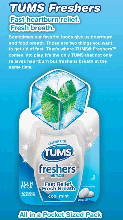 FREE Sample of Tums Freshers Antacid FREEBIES Pinterest Tums - free mail sample