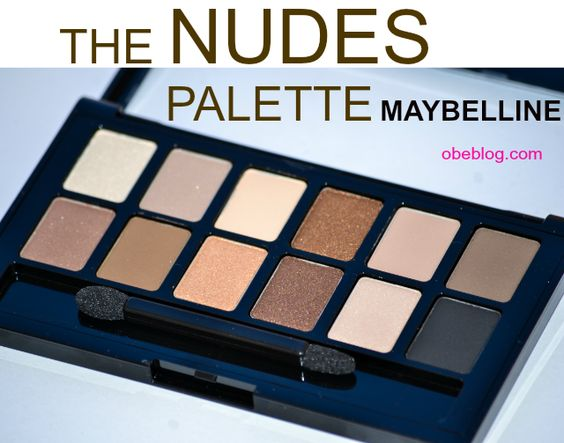 The NUDES palette MAYBELLINE NY