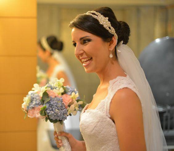 Bruids Headpieces hoofdband bruids hoofdband van GlamHouse op Etsy