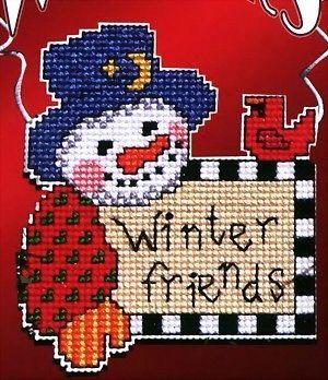 Snowman ornament cross stitch
