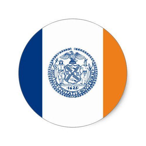 New York City Flag United States America Country Classic Round Sticker Zazzle Com City Flags States In America New York City