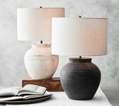 Faris Ceramic Table Lamp In 2020 Table Lamp Base Round Table Lamp Small Table Lamp