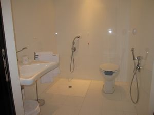 Accessible wet room sink will be on the right hand wall - Disabled shower room ...