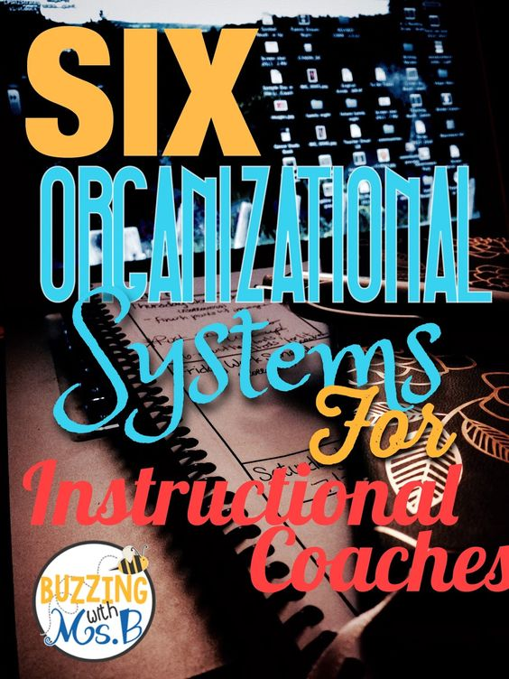 6 Must-Have Organizational Systems for Instructional Coaching- lots of ideas for staying organized! Buzzing with Ms. B