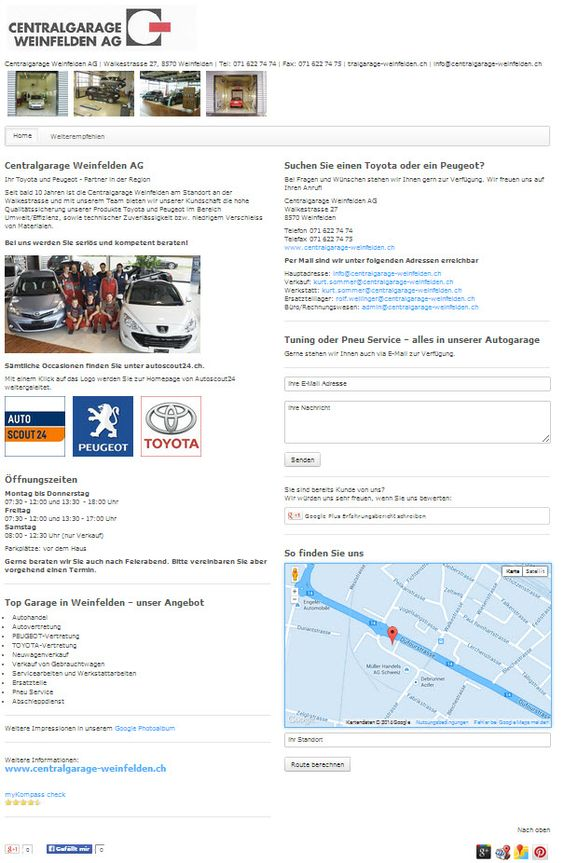 Garage, Autohandel, Weinfelden, Sulgen, Amriswil