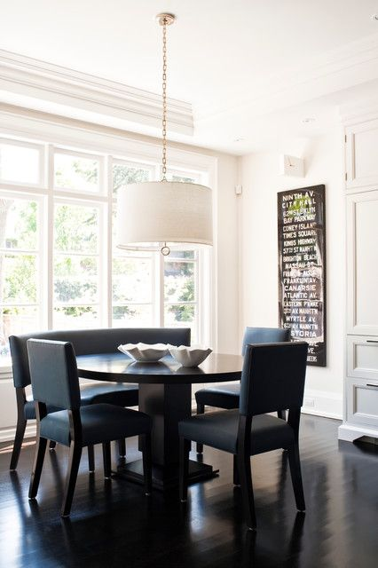 Eat In Kitchen Table Like The Round Table With One Bench