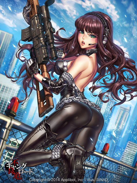 Sniper Girl by Sinad Jaruartjanapat | Illustration | 2D | CGSociety