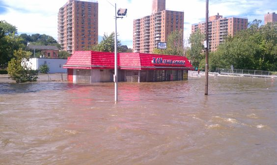 Hurricane Sandy Left This Behind Broadway Towards Downtown Of Paterson Paterson Nj