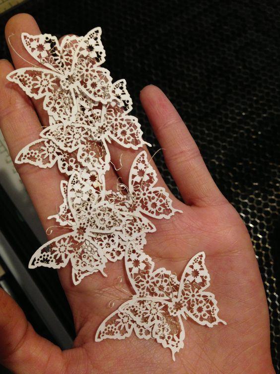 Laser Cut Butterflies Design Pinterest Wedding