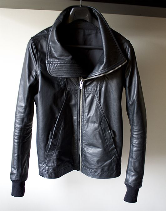 Rick Owens SS2010 Geo Leather Jacket in black calf.