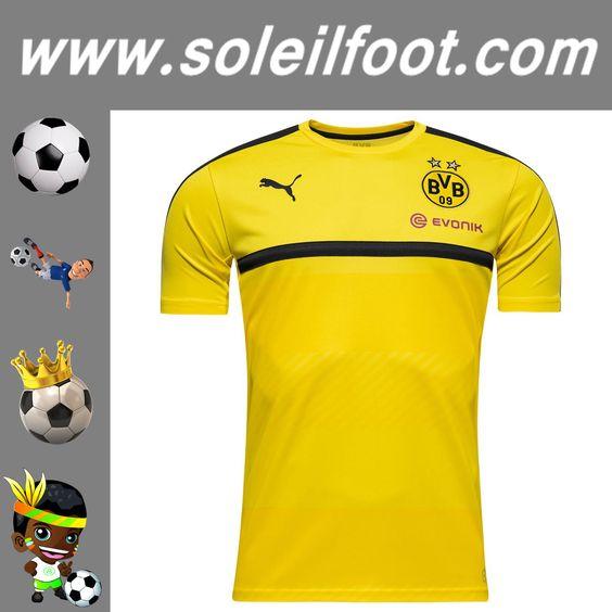 Nouveau Training T-Shirt De Foot Dortmund BVB Jaune Saison 16 17 Moins Cher