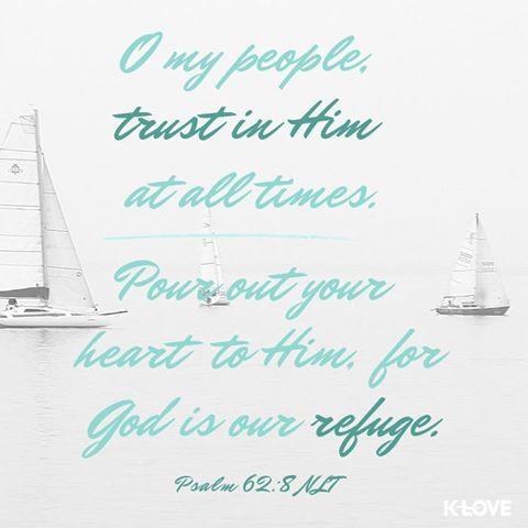 Trust, unwavering trust.