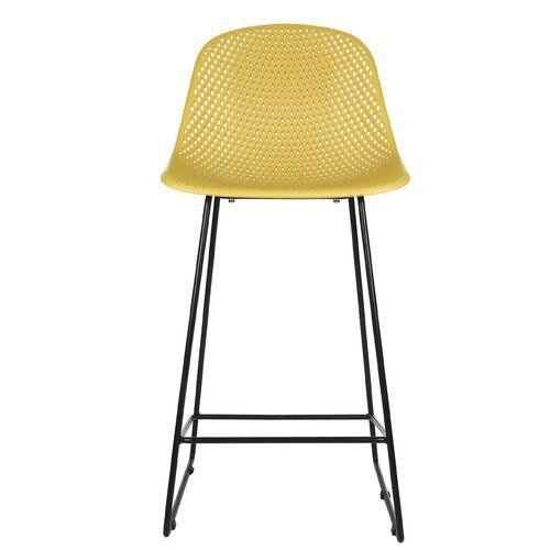 Diamond Mesh 75cm Bar Stool Set Of 2 Leitmotiv Colour Seat Ochre Yellow Bar Stools Adjustable Bar Stools Buy Bar Stools