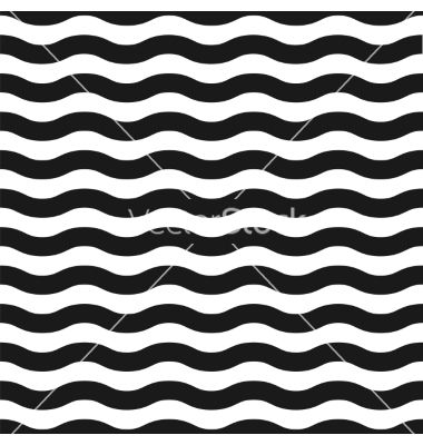 Seamless black and white wave pattern vector by Aleksandrs on VectorStock®