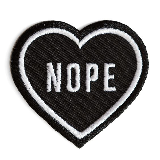 Nope Heart Patch (Black)