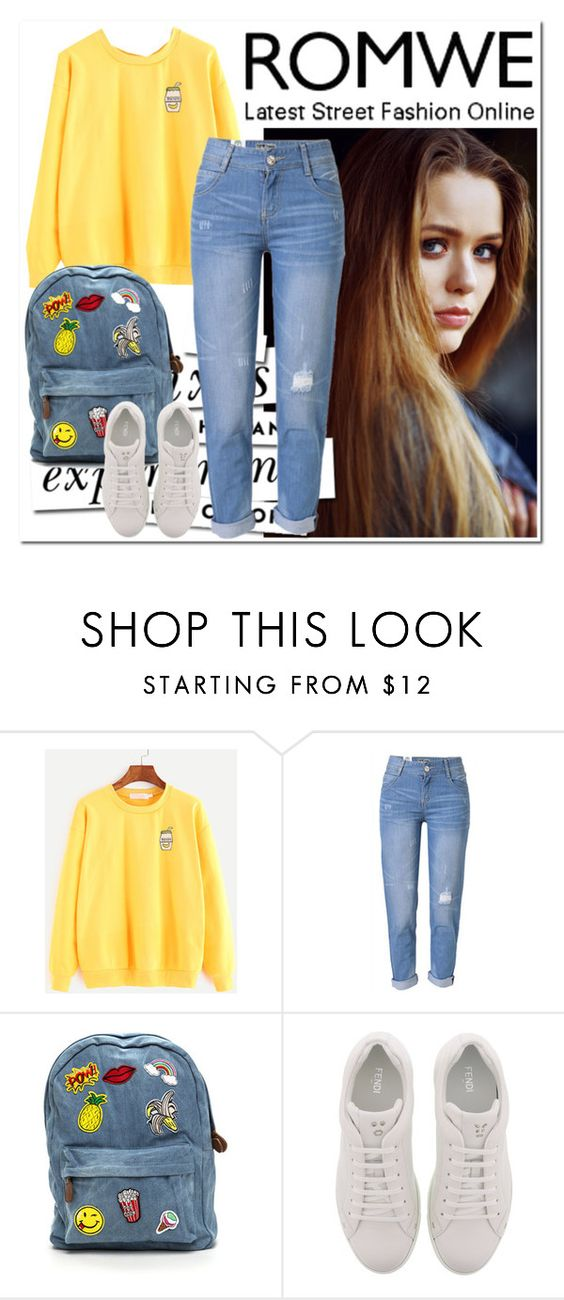 """""""Untitled #528"""" by istrijana ❤ liked on Polyvore featuring Toni&Guy, Kate Spade, WithChic and Fendi"""