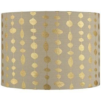 Gold Drops Canvas Drum Shade 14X14X10 (Spider) by LAMPS PLUS,