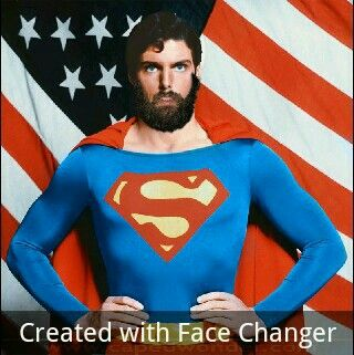 bearded superman