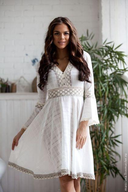 """Платья ручной работы. Ярмарка Мастеров - ручная работа. Купить Платье """"Нежность хлопка"""". Handmade. Белый, белое платье"""