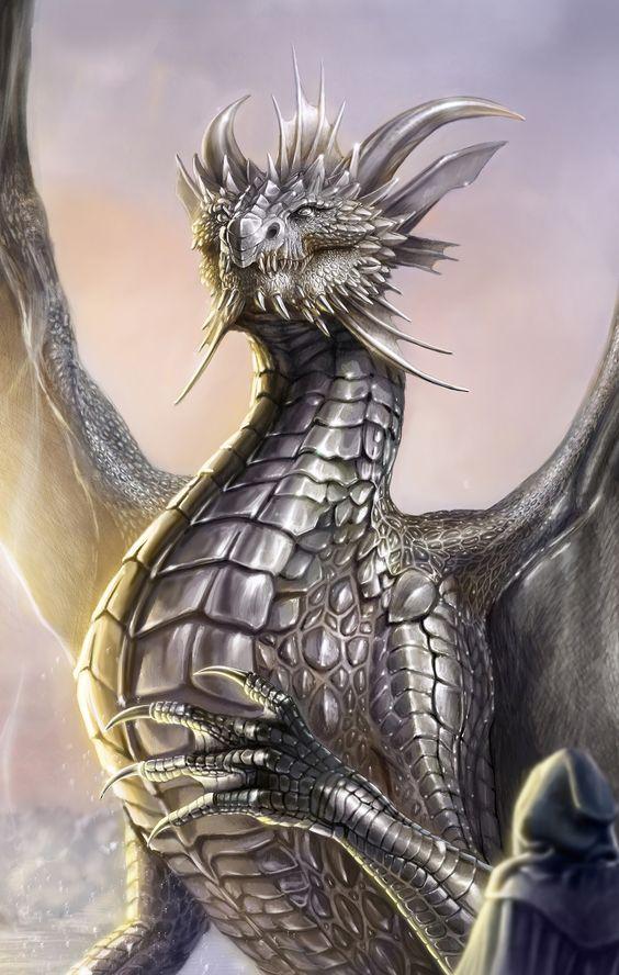 Dragon plateado
