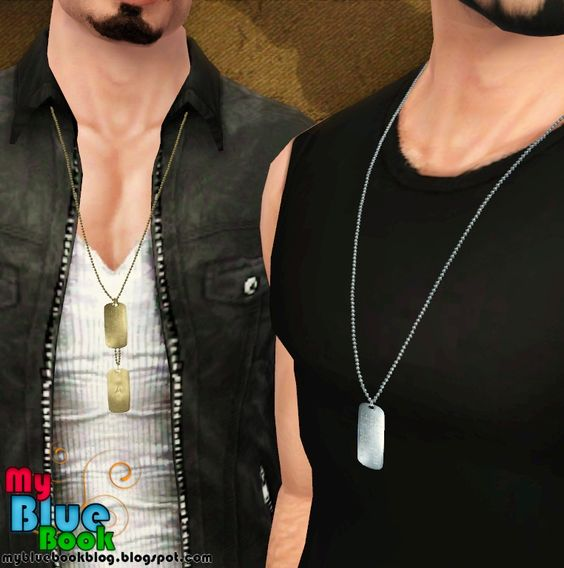 My Blue Book: Military Tags - Male Accessories - Set005 #Sims3