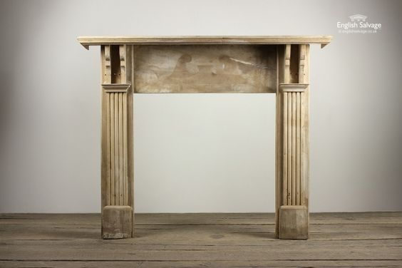 £275 [160cm (w) x 131cm (h) x 23cm (d)] Reclaimed Plain Elm Wood Fire Surround