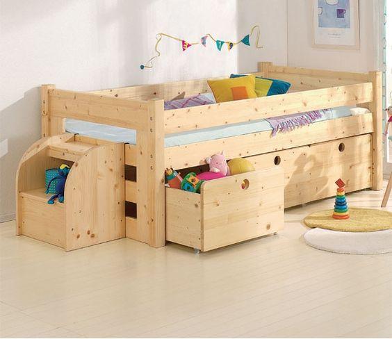 Ni os cama litera cama de los ni os cama infantil - Camas para ninos pequenos ...