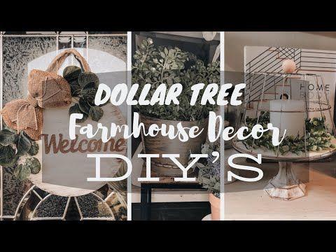 Dollar Tree Diy Farmhouse Decor 2020 Youtube In 2020 Diy Farmhouse Decor Dollar Tree Diy Dollar Tree Diy Crafts