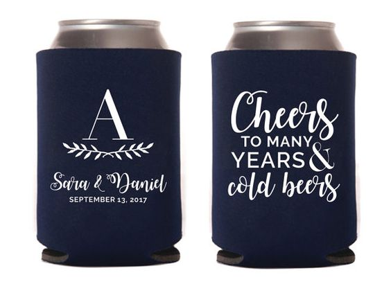 Cheers to Many Years and Cold Beers Can Cooler by goodmancodesign