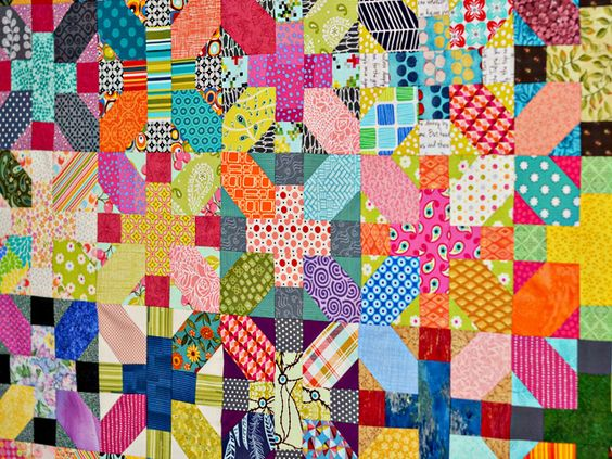 + and x quilt. by Bijou Lovely, via Flickr