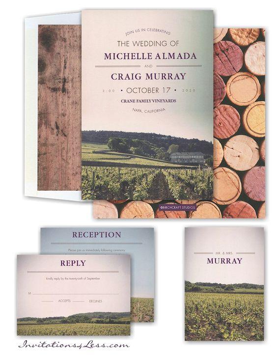Wine Country Wedding Invitation – Wine Country Wedding Invitations