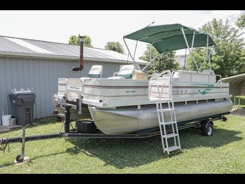 1997 Grumman 20sp Pontoon Boat W 50hp Evinrude Outboard Motor Fish Finder Trolling Motor For Sale By Owner Sold 6 19 20 Pontoon Boat Pontoon Skis For Sale