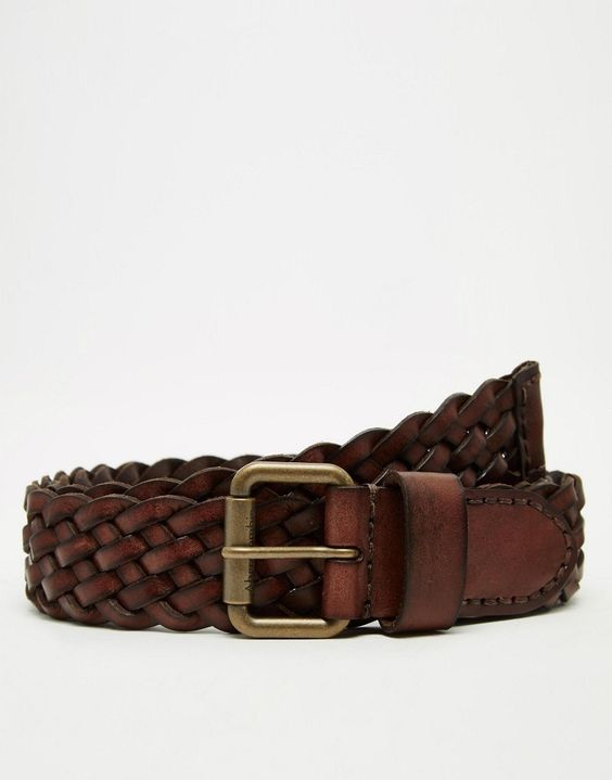 Image 1 ofAbercrombie & Fitch Woven Belt In Leather