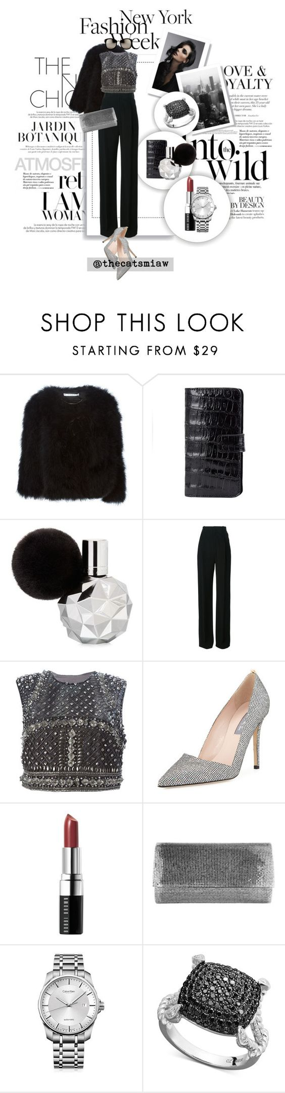 """""""Pack for NYFW! - Embellished"""" by belleforcible ❤ liked on Polyvore featuring Louis Vuitton, Anja, Givenchy, N+J Beverly Hills, Alberta Ferretti, SJP, Bobbi Brown Cosmetics, Judith Leiber, Calvin Klein and Linda Farrow"""