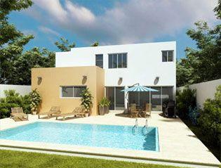 Fachadas de casas modernas fachada trasera de casa - Casas con chimeneas modernas ...