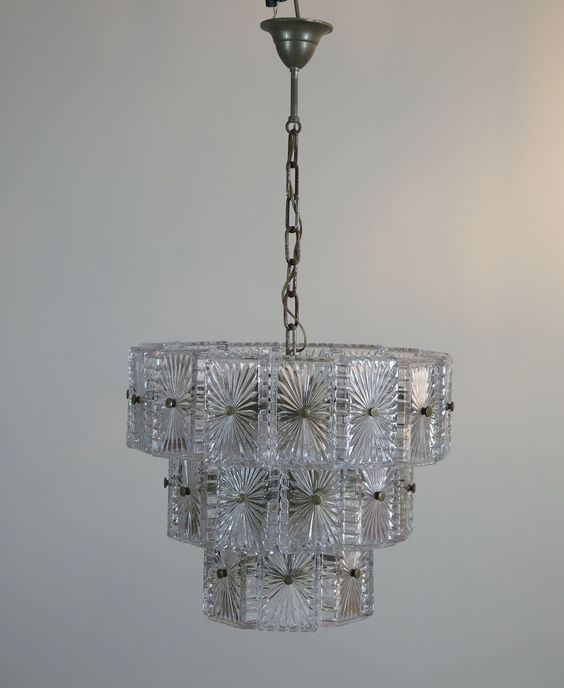 Vintage Murano glass Chandelier   Sconce in Vistosi italian design - designer leuchten la murrina