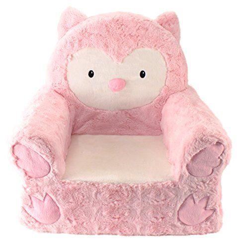 Animal Adventure Sweet Seats Pink Owl Children S Plush Chair