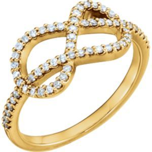 122826 / Complete With Stone / 14kt Yellow / Polished / 1/3 CTW Diamond Knot Ring #mothersday Locate a Jeweler Here: http://www.stuller.com/locateajeweler/