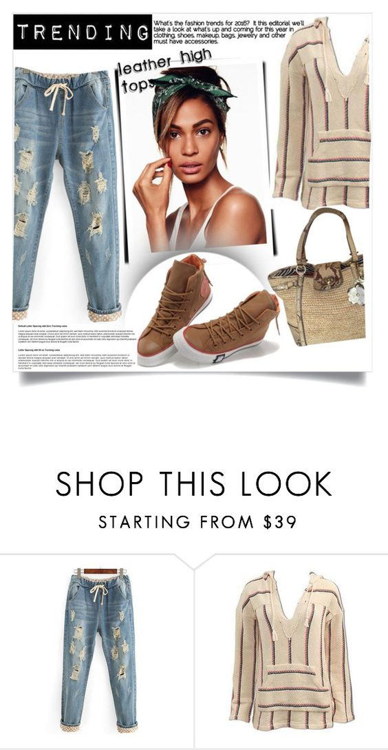 """""""Trending/Leather High Tops"""" by clotheshawg ❤ liked on Polyvore featuring Coach"""