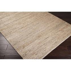 Hand-woven Kenora Natural Fiber Jute Braided Texture Rug (5u0027 x 8u0027