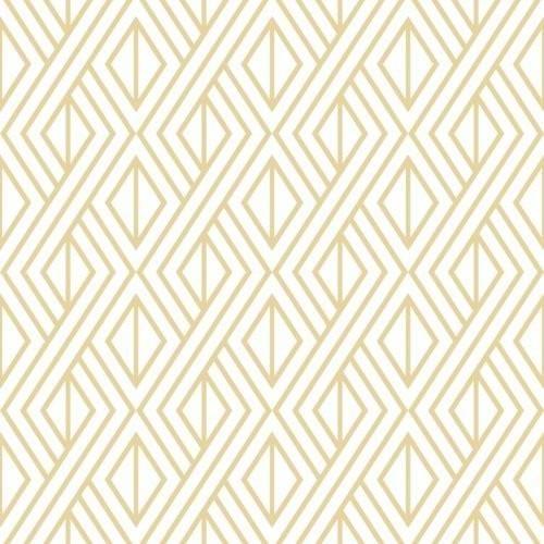 Seabrook Gold Diamond Geometric Metallic Gold White Wallpaper In 2021 Peel And Stick Wallpaper Peelable Wallpaper Geometric Wallpaper