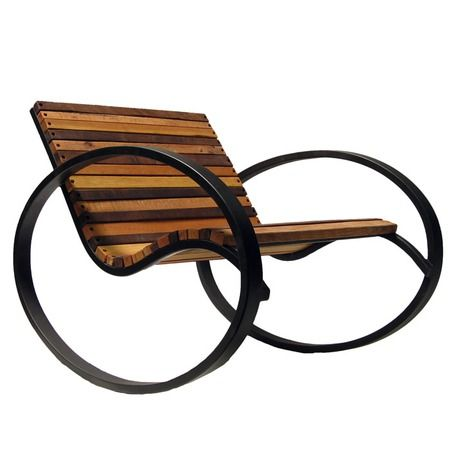 COOL Shiner International Pant Rocker from the Design Report: Eco Chic event at Joss and Main: Modern Rocking Chairs, Pant Rocker, Chic Rocking, Bed, Feeling, Old Benches, Rocker Calico