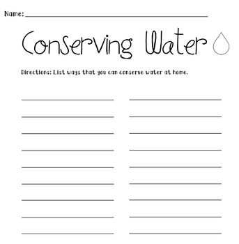 Printables Water Conservation Worksheets activities student and it is on pinterest list ways to conserve water either for hw or whole group activity