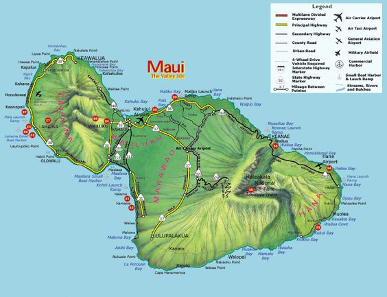 surf spot map maui – Maui Tourist Attractions Map