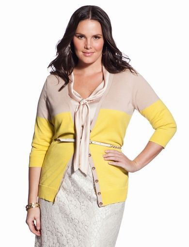 Colorblock Cardigan - Women's Sweaters & Plus Size Sweaters - eloquii by The Limited