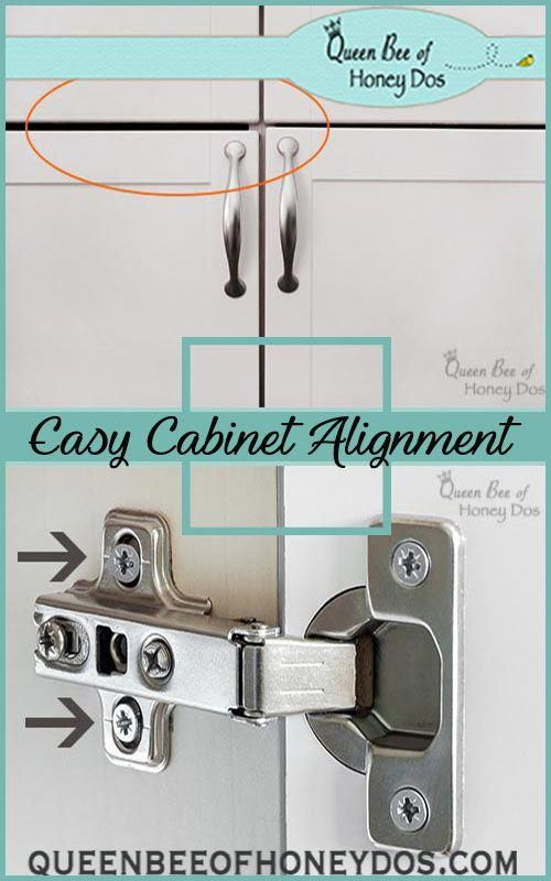Step By Step Instruction For Aligning Cabinet Doors Easy Diy Home Improvement P With Images Home Improvement Contractors Home Improvement Projects Home Improvement Loans