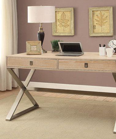 Look what I found on #zulily! Natural Two-Drawer Desk #zulilyfinds